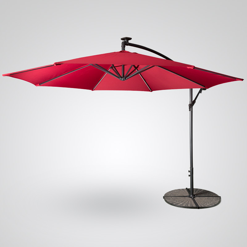 Solar Powered LED Light Banana Umbrella