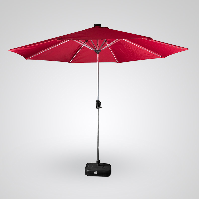 Solar Powered LED Light Umbrella