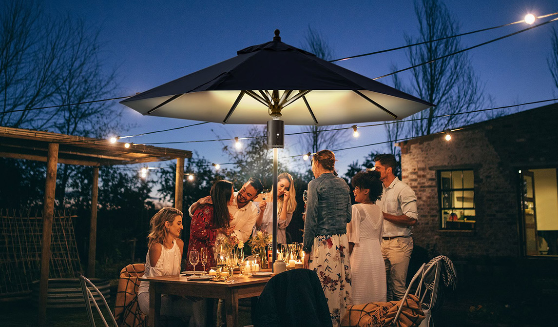 Outdoor leisure umbrella tent swing lighting